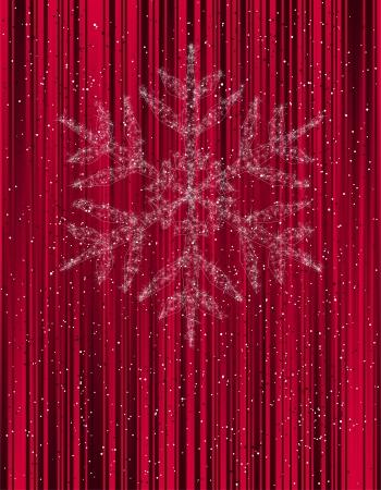 estrellas de navidad: Fondo de Navidad con copos de nieve