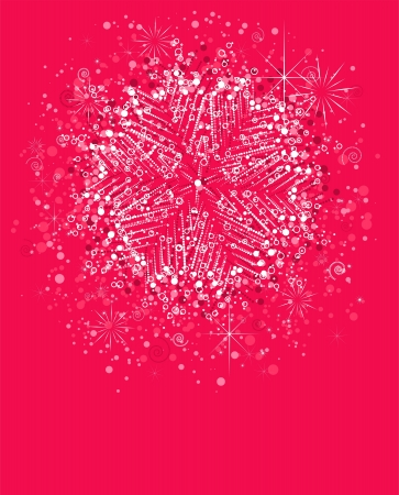 christmas background with snowflake  global colors  Illustration
