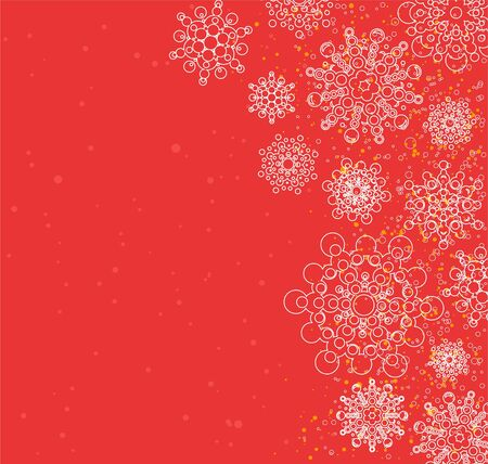 christmas background with snowflakes  global colors Stock Vector - 16924780