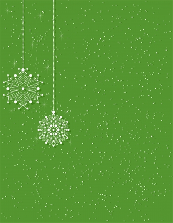 christmas background with snowflakes  global colors   Stock Vector - 16924782