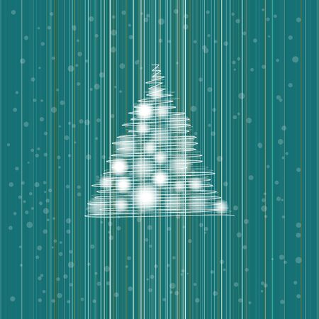 christmas card with cristmas tree  Illustration