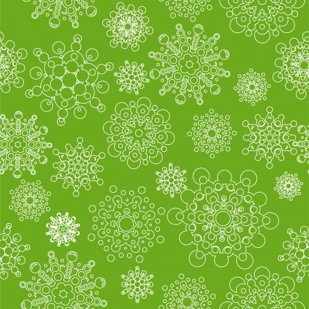 seamless pattern with snowflakes  global colors used  layered  Illustration