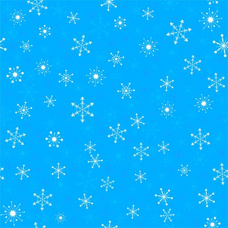 seamless pattern with snowflakes  global colors   Vector