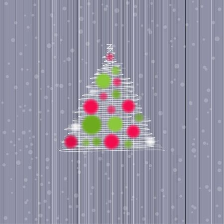 christmas card with cristmas tree  Vector