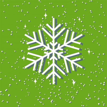 christmas background with snowflake  layered vector  Illustration