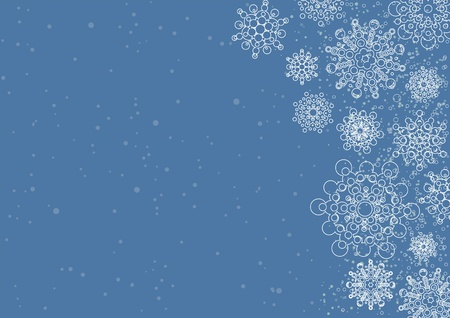 christmas background with snowflake  layered vector