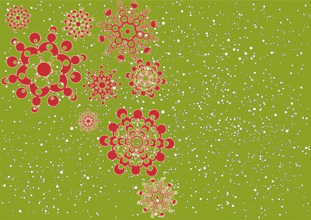 christmas background with snowflakes  layered vector