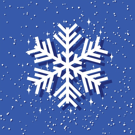 christmas background with snowflakes. layered vector Vector