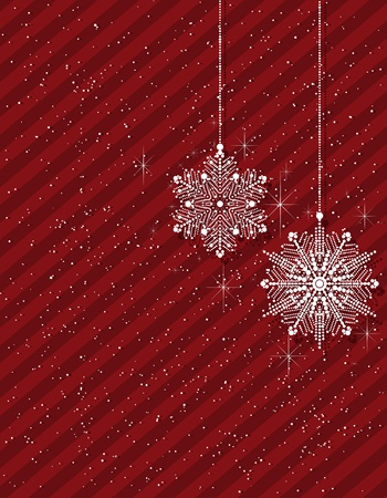 christmas background with snowflakes. layered vector.