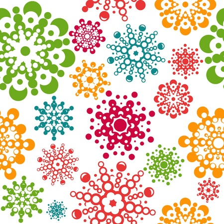 seamless pattern with snowflakes. layered vector for easy manipulation