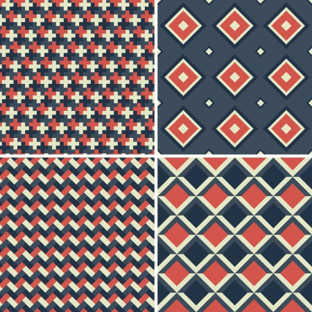 geometric seamless patterns set. abstract vector background. Illustration