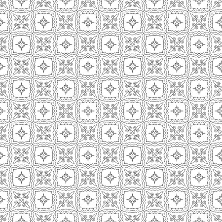 abstract vintage wallpaper with ornaments. seamless background. vector illustration