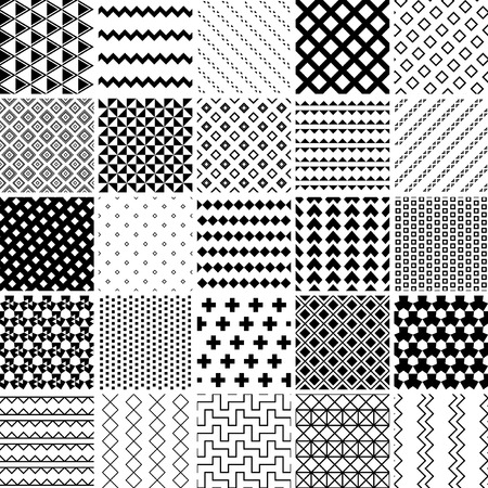 monochrome seamless patterns set. abstract vector background.