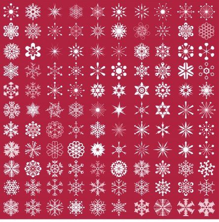 big set of snowflakes. vector illustration. Illustration