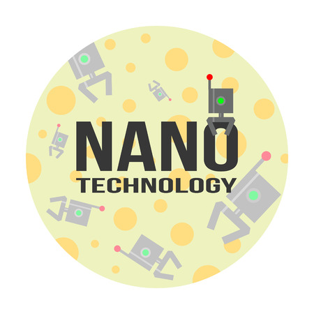 biophysics: Nanotechnology concept of logo and background. Illustration for science, medicine, physics, biophysics,  etc.