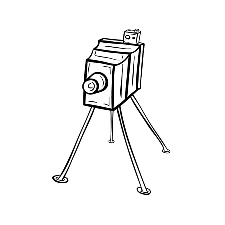 Old photocamera,19th century.