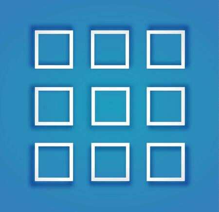 Set Of Flat Frames With Mesh Shadow. Royalty Free Cliparts, Vectors ...