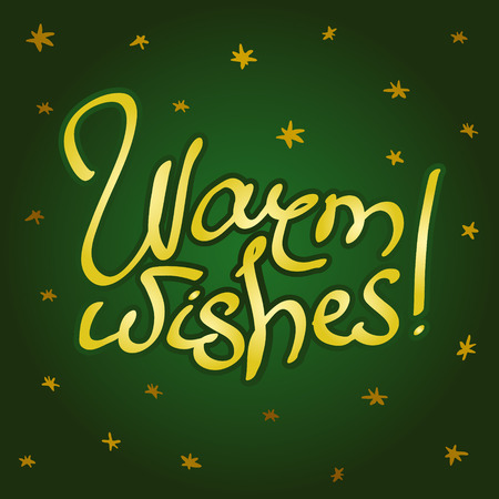 Greeting card with lettering Warm wishes