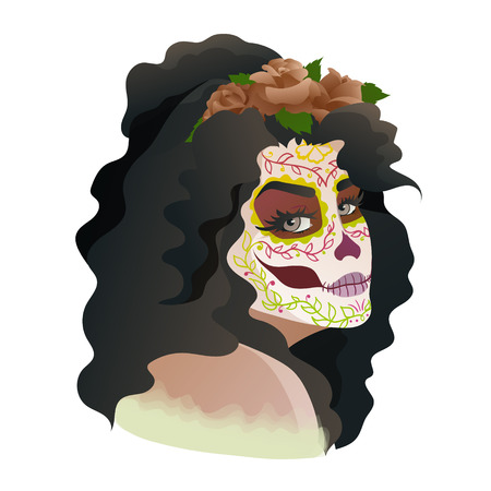 Catrina, Day of the Dead symbol of Mexico Illustration
