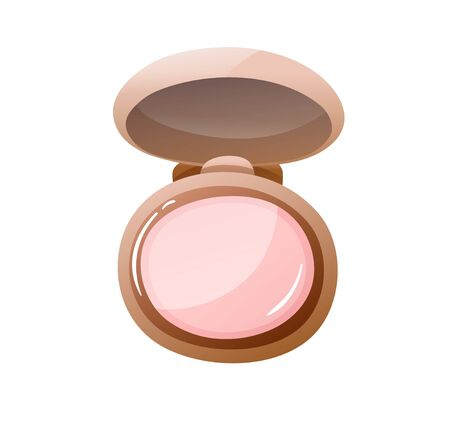 Face blush in gentle pink color, flat style  イラスト・ベクター素材