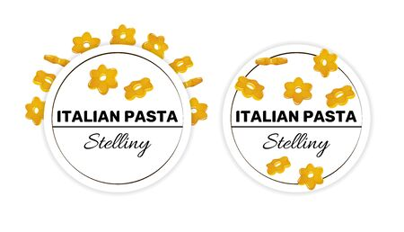 Set of labels for italian pasta, stellini