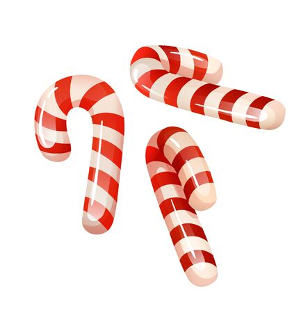 Tradition sweets - red and white candy canes