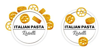 Set of labels for rotelli, italian pasta.