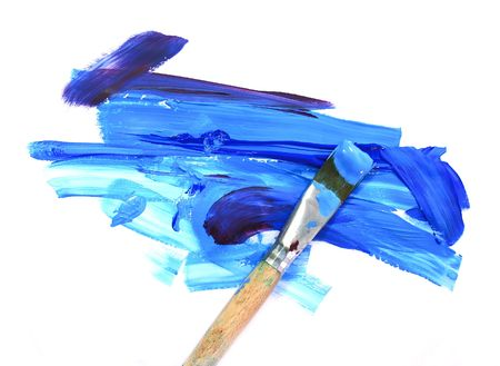 paint tube: color oil paint and brush