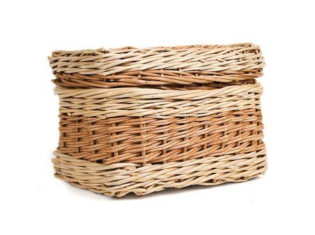 osier: wickerwork box