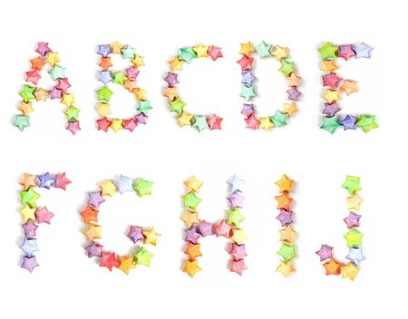 color lucky stars origami alphabet Stock Photo - 6851924