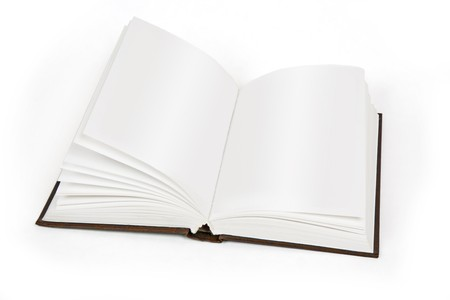 hard cover: opened book hard cover Stock Photo