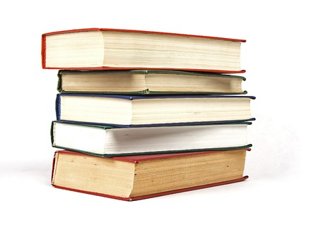hard cover: stack of books hard cover Stock Photo