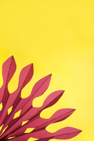 abstract yellow and purple paper composition, fan shape Stock Photo - 8291276