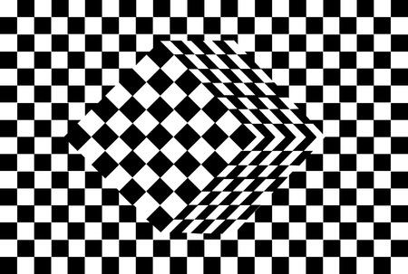 optical art: vector de ilusi�n �ptica de cubo blanco y negro