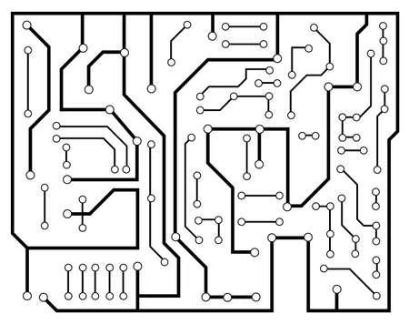 soldering: black electronic scheme vector Illustration
