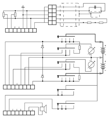 electrical circuit: circuito elettrico vector