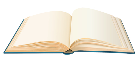 bibliophile: realistic opened book with empty pages vector Illustration
