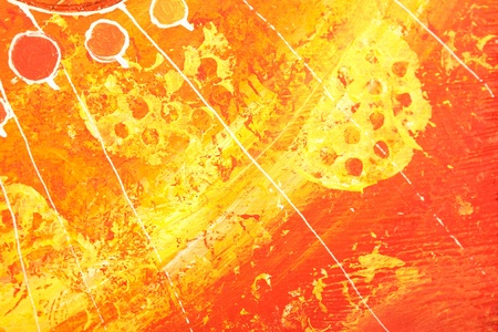 pained: closeup of bright orange pained picture texture background