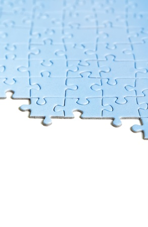 blue puzzle texture, isolated photo