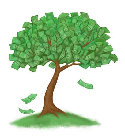 money tree on grass Stock Photo - 9816955