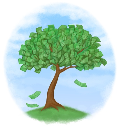 money tree on grass Stock Photo - 9816956