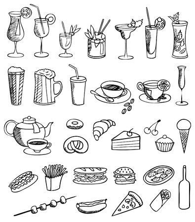 food and drink vector set Vector