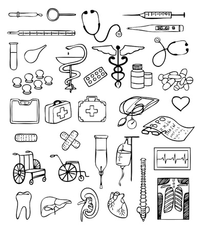 health and medical vector set Stock Vector - 9932541