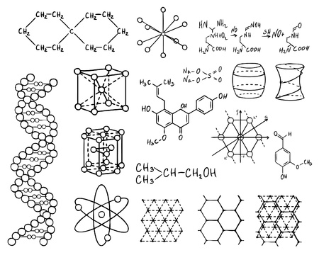 science chemistry: physics and chemistry vector set