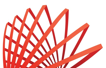 abstract red composition with stripes, vector Vector