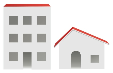 city and village buildings, vector Stock Vector - 10101163
