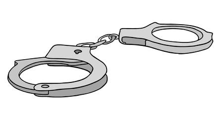handcuffs: metal handcuffs vector