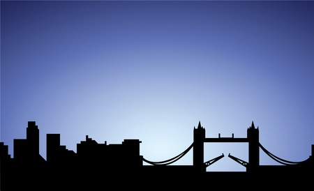 silhouette of London city, England, vector Stock Vector - 10138642