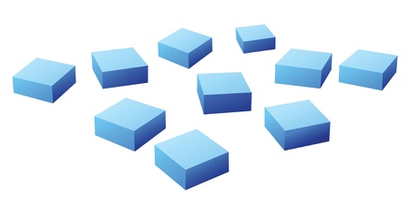conundrum: many blue cubes vector