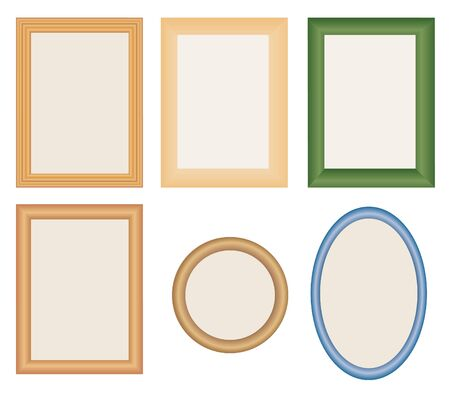 many different photo frames vector Vector